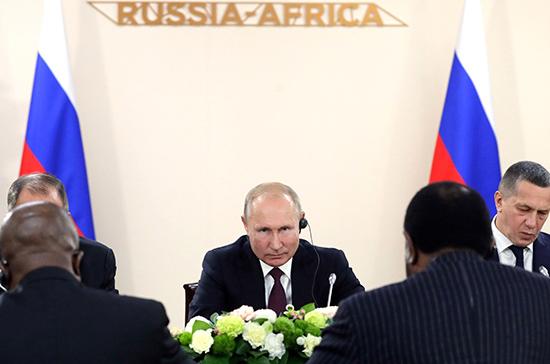 Путин: Россия будет поддерживать усилия властей ЦАР по стабилизации ситуации в стране
