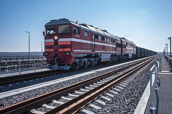 На Крымском мосту проходят испытания железнодорожных конструкций