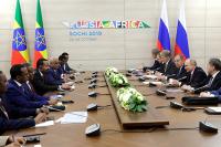 Путин призвал наращивать уровень экономических отношений РФ и Эфиопии