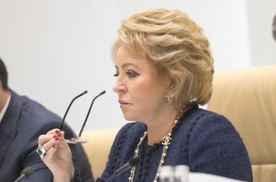 Спикер Совфеда призвала провести ревизию нормативных актов в сфере госзакупок