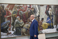 В Госдуме открылась выставка художников академии Ильи Глазунова