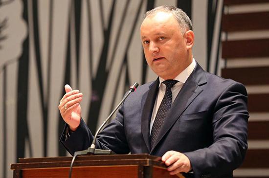 Додон обратился к прессе в связи с отставкой правительства Санду