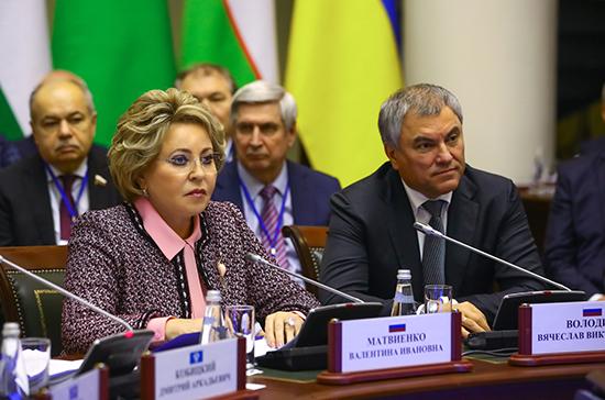 Матвиенко и Володин в шутку поспорили о роли женщин в политике