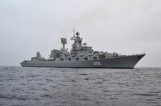 Ракетный крейсер «Маршал Устинов» прибыл на учения в ЮАР