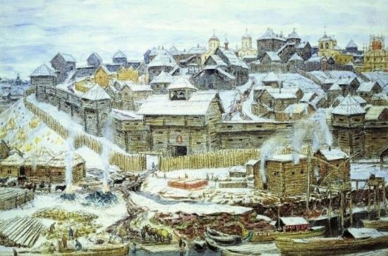 680 лет назад Московский Кремль окружили мощной дубовой стеной