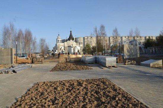 Реконструкция парка Победы в Костроме закончится 9 мая