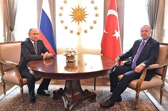 Песков сообщил, когда может состояться встреча Путина и Эрдогана