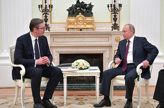 Путин и Вучич 4 декабря обсудят вопросы двустороннего сотрудничества