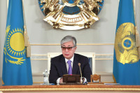 Токаев: урегулирование ситуации в Донбассе должно происходить в «нормандском формате»