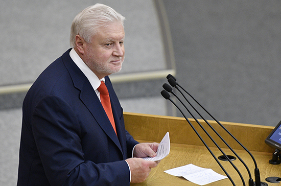 Миронов подвёл итоги осенней сессии Госдумы
