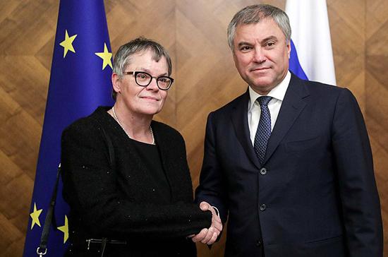 Председатель ПАСЕ согласилась с позицией Володина о необходимости отстаивать многообразие точек зрения