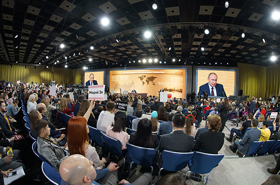 Романов назвал формат большой пресс-конференции Путина исключительным способом обратной связи с обществом