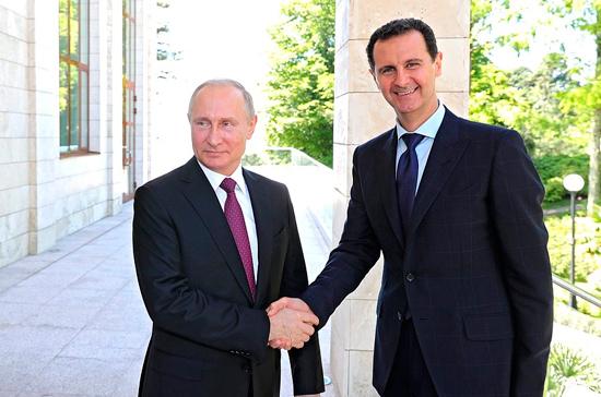 Путин провёл встречу с Асадом в Дамаске
