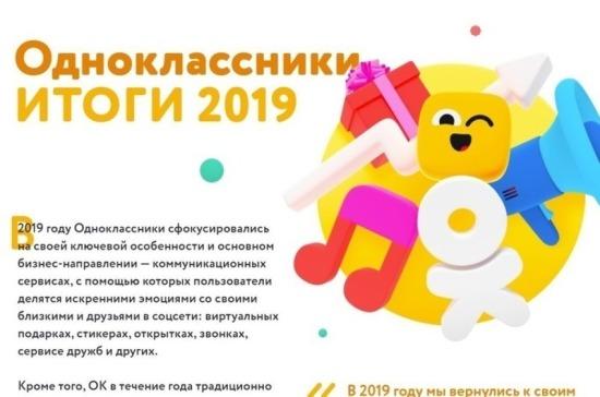 «Одноклассники» подвели итоги 2019 года