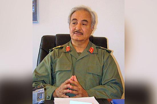 Хафтар поблагодарил Путина за усилия России по установлению мира в Ливии