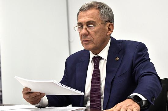 Минниханов поручил представить предложения по реализации Послания Путина