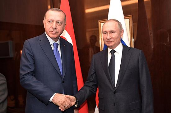 Путин встретился с Эрдоганом перед началом Берлинской конференции по Ливии