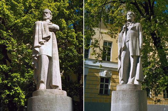 100 лет назад состоялась закладка памятников Герцену и Огареву на Моховой