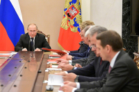 Путин обсудил с членами Совбеза ситуацию с коронавирусом
