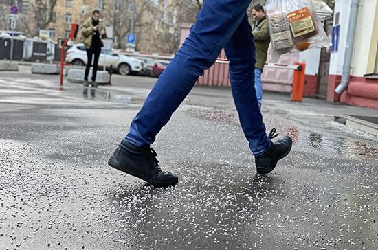 Депутат предложил запретить использовать противогололёдные реагенты на тротуарах