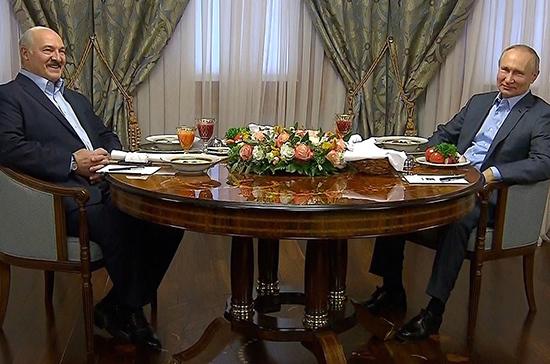 Путин и Лукашенко общались тет-а-тет в Сочи больше часа