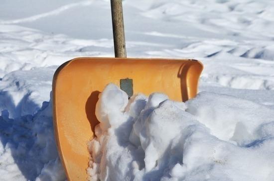 В Удмуртии школьники участвуют в акции по уборке снега