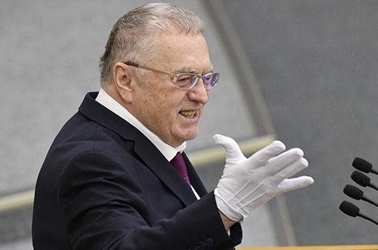 Жириновский предложил депутатам носить резиновые перчатки