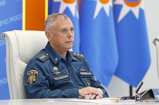 Заместитель министра МЧС посетил учения в Российско-Сербском гуманитарном центре