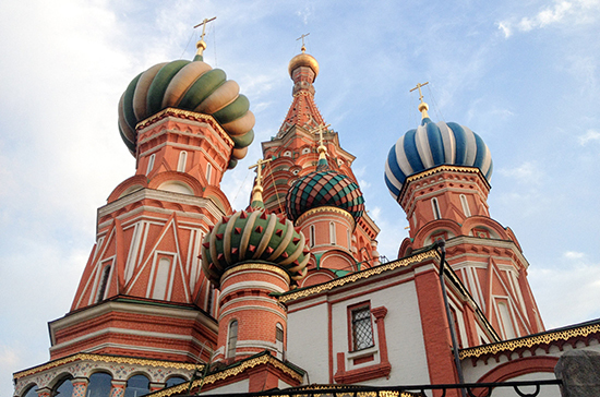 Храм Василия Блаженного включает девять церквей
