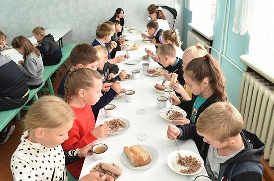 Законопроект о горячем питании школьников Госдума рассмотрит в третьем чтении