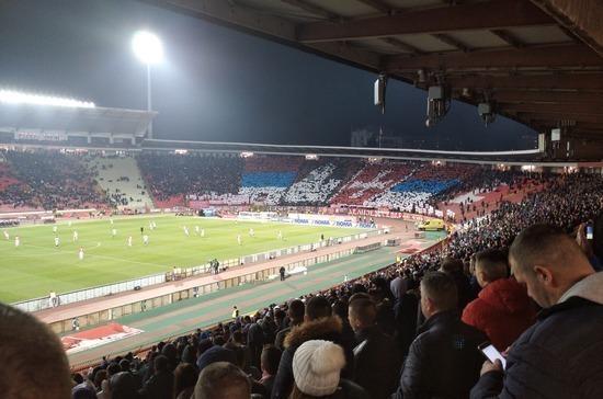 Сербские болельщики поддержали православных Черногории