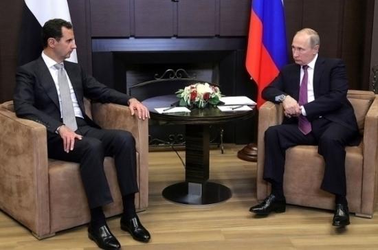 Путин проинформировал Асада о соглашении с Эрдоганом