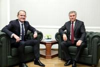 В Госдуме началась встреча Володина и Медведчука