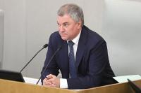 Володин поручил отменить санкции за пропуск заседаний Госдумы из-за карантина