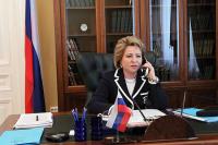 Валентина Матвиенко обсудила с французским коллегой ситуацию с коронавирусом
