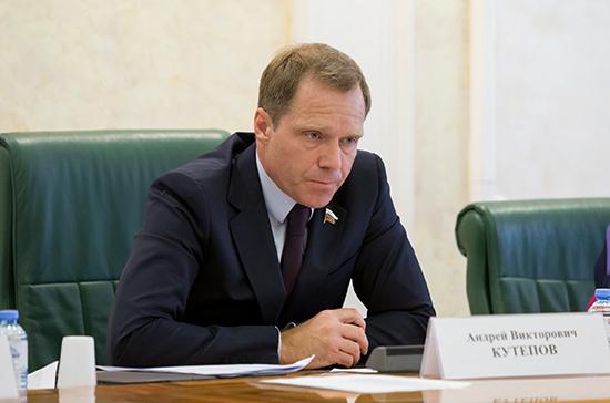 Кутепов направил в Минздрав запрос об информации по защитным мерам от коронавируса