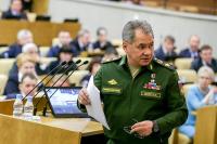 Шойгу рассказал об уровне оснащённости армии современным вооружением