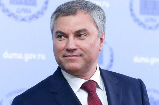 Володин предложил выделить гранты производителям масок и дезинфицирующих средств
