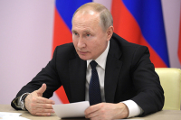 Путин объявил апрель нерабочим месяцем в связи с коронавирусом