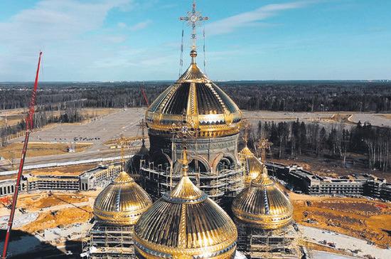 Храм Победы возводится на добровольные пожертвования