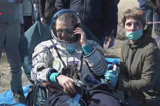«Союз МС-15» с экипажем МКС приземлился в Казахстане