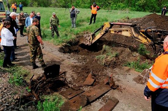 Под Таганрогом обнаружили часть военного бронепоезда