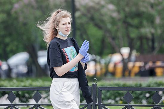 Ношение масок и перчаток на улицах Москвы носит рекомендательный характер