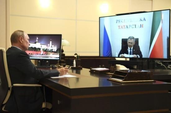 Путин заявил, что поддержит Минниханова на новый срок