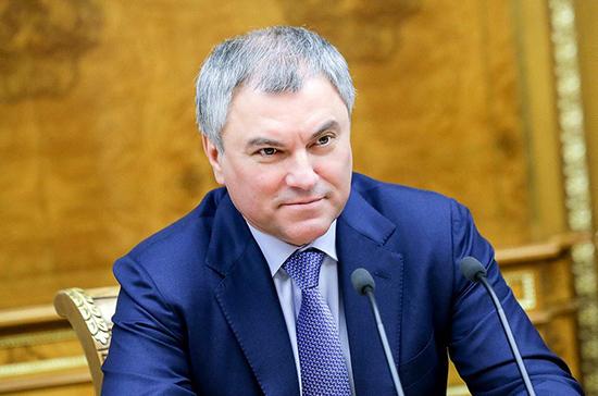 Володин  поздравил россиян с Днём защиты детей