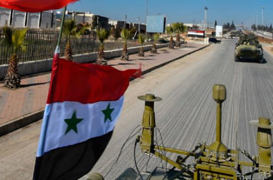 Машина российского военного патруля подорвалась на мине в Сирии