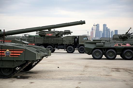 В Москве подготовили площадку для участвующей в Параде Победы техники