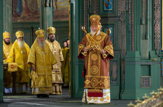 Патриарх Кирилл освятил главный храм Вооружённых сил