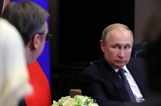 Путин призвал выработать компромиссное решение по Косово
