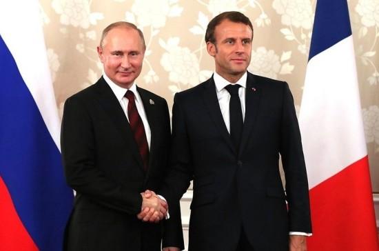 Путин и Макрон обсудят отношения Москвы и Парижа